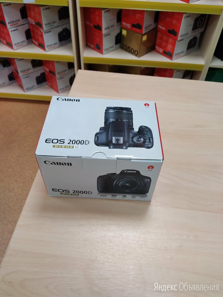Canon EOS 2000D kit 18-55mm iii.  по цене 25900₽ - Фотоаппараты, фото 0