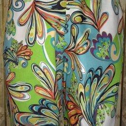 Брюки - Свободные летние брюки яркой расцветки, р.46-48, 0