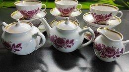 Сервизы и наборы - Чайный сервиз Дулево 15 предметов 1960 г., 0