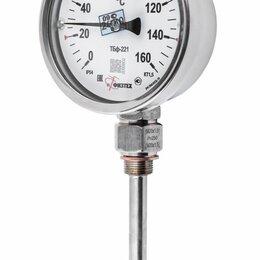 Метеостанции, термометры, барометры - Термометр биметаллический ТБф-225 -50...0...50C° ОШ*8 (кт.1,5 / d.80 / G1/2 / IP, 0