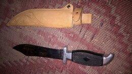 Аксессуары и комплектующие - нож охотничий в кожаном чехле, 0