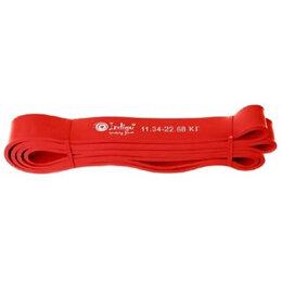 Эспандеры и кистевые тренажеры - Эспандер латексная петля Кроссфит INDIGO 208*1,9см Красный, 0