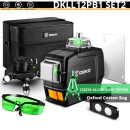 Измерительные инструменты и приборы - Лазерный уровень Deko DKll12PB112 линий + штатив, 0