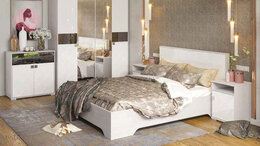 Кровати - Модульная система для спальни САЛЬМА МДФ, 0