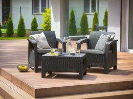 Комплекты садовой мебели - Набор садовой мебели CORFU II WEEKEND графитовый, 0