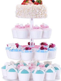 Аксессуары - Одноярусный свадебный торт с…, 0