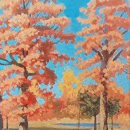 Картины, постеры, гобелены, панно - Картина маслом Осень, 0
