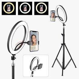 Фотовспышки - кольцевая лампа 36 см штатив, 0