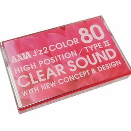Музыкальные центры,  магнитофоны, магнитолы - Компакт-кассета AXIA JZ2 Color 80 тип II (Fuji), не вскрытая, 0