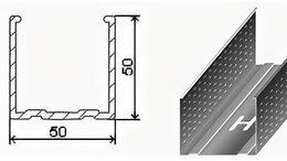Гипсокартон и комплектующие - Профиль Направляющий ПН 50х50 (3 м) 0,5 мм, 0