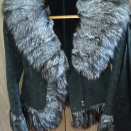 Дубленки - Куртка, женская, дубленка, мех, зима, р40-42, 0