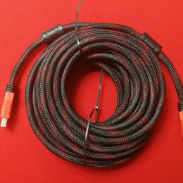 Компьютерные кабели, разъемы, переходники - Кабель HDMI / HDMI в оплетке 5 м, 0