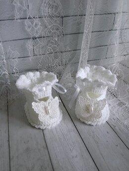 """Обувь для малышей - Нарядные пинетки туфельки """"Butterfly"""", 0"""