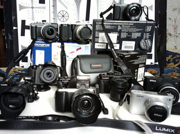 Фотоаппараты - 12 Беззеркалок, 20 объективов (автофокусные и…, 0
