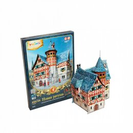 Сборные модели - Новая ратуша (Сборная игрушка из картона), 0