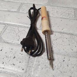 Электрические паяльники - Паяльник 25Вт- 220В  деревянная ручка (Тонкое жало), 0