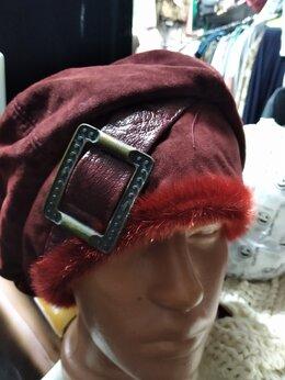Головные уборы - Новые  натуральная замша шапочки , 0