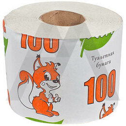 Туалетная бумага и полотенца - туалетная бумага 100 метров, 0
