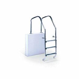Лестницы и поручни - Лестница для бассейна OVERFLOW 4 ступени Luxe AISI-304, 0