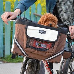 Транспортировка, переноски - Сумка-переноска на руль велосипеда для собак, 0