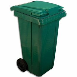 Корзины, коробки и контейнеры - Мусорный контейнер 120л зеленый (МКТ), 0