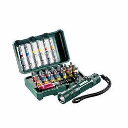 Наборы инструментов и оснастки - Набор бит 29 предметов + LED фонарик Metabo…, 0