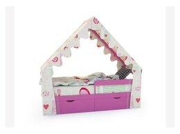 Кроватки - Кровать-домик «SCANDI» розовый, 0