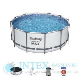 Бассейны - 56420 Bestway Каркасный бассейн Steel Pro Max…, 0