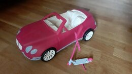 Аксессуары для кукол - Автомобиль и самокат для кукол Барби, 0