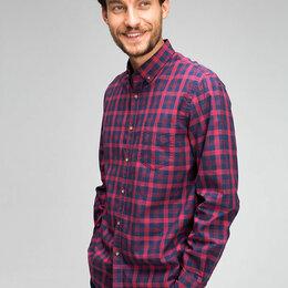 Рубашки - Мужская рубашка ostin в клетку (Новая XXL), 0