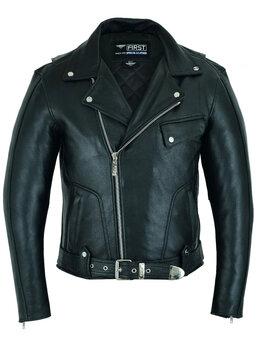 Куртки - First 282 СС косуха мужская кожаная, 0