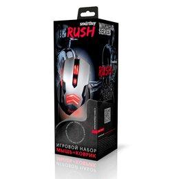 Мыши - Мышь игровая проводная  RUSH 729 Черно/серая +…, 0