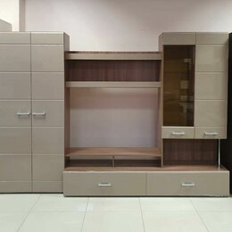 Шкафы, стенки, гарнитуры - Гостиная Вегас 1 кофе с молоком/ ясень, 0