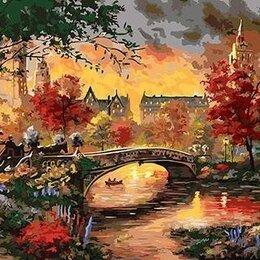 Раскраски и роспись - Картина по номерам на холсте-осенний мост, 0