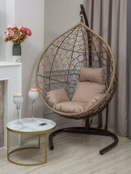 Подвесные кресла - Подвесное кресло BUENO LIGHT-XL (большое) светло…, 0