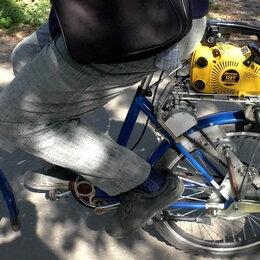 Мототехника и электровелосипеды - Велосипед самоходный с мотором от пилы Дружба (самоделка), 0