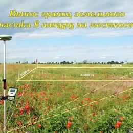 Прочие услуги - Вынос границ земельного участка, 0