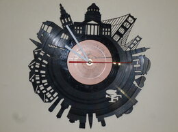 Часы настенные - Настенные часы-пластинка с резьбой, 0