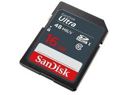 Карты памяти - Флеш карта SD 16GB SanDisk SDHC Class 10 UHS-I Ult, 0