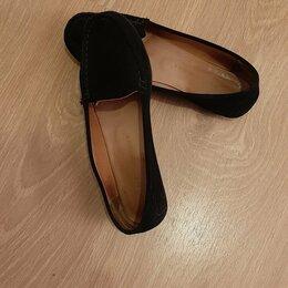Балетки, туфли - Замшевые туфельки,38 размер., 0