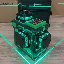 Измерительные инструменты и приборы - Лазерный уровень 3Д, 12 линий, зелёный луч, новый, 0