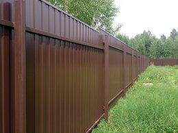 Заборы и ворота - Забор из профнастила с установкой, 0