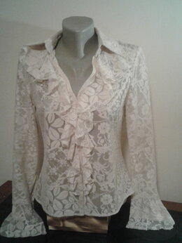 Блузки и кофточки - Ажурная блуза с воланами. , 0