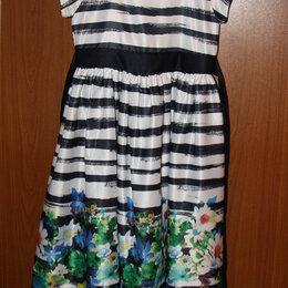 Платья и сарафаны - Платье с полосами и цветочным узором на 8-9 лет, 0