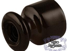 Товары для электромонтажа - Фарфоровый изолятор Lindas коричневый, 0
