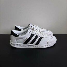 Кроссовки и кеды - Кроссовки Adidas Hamburg кожаные белые А833, 0