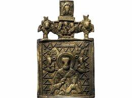 Другое - Икона «Святитель Николай Чудотворец», бронза, 0
