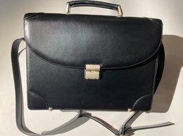 Портфели - Компактный черный портфель Petek из Турции +ремень, 0