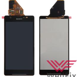 Дисплеи и тачскрины - Дисплей для Sony Xperia ZR черный в сборе, 0