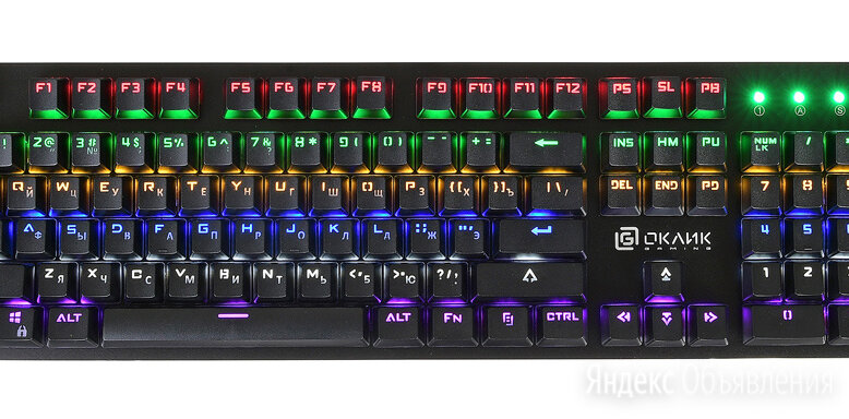 Клавиатура Oklick 990G RAGE черный по цене 2250₽ - Клавиатуры, фото 0